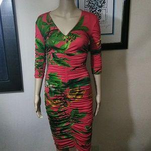 Zara V neck Dress in Red